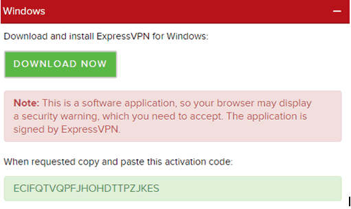 Expressvpn step 1