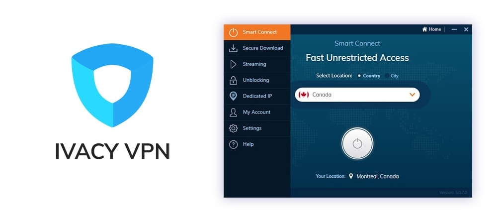 Ivacy VPN Screenshot