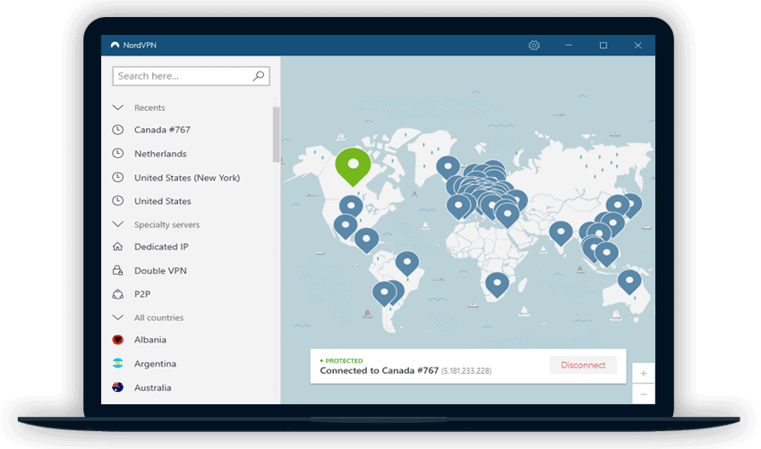 NordVPN Review Screenshot