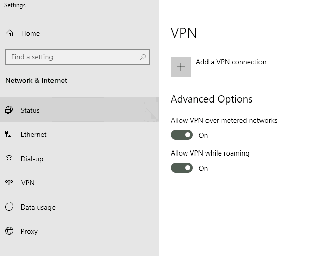 connect to a vpn on windows