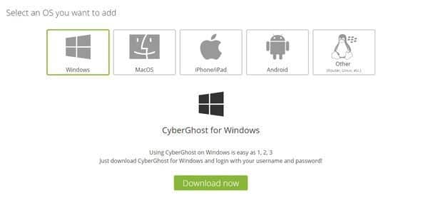 cyberghost download step2