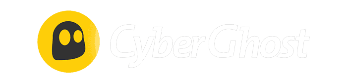 CyberGhost logo in white color