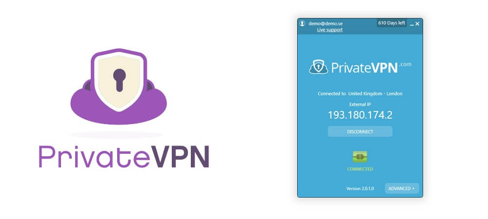 Privatevpn screenshot