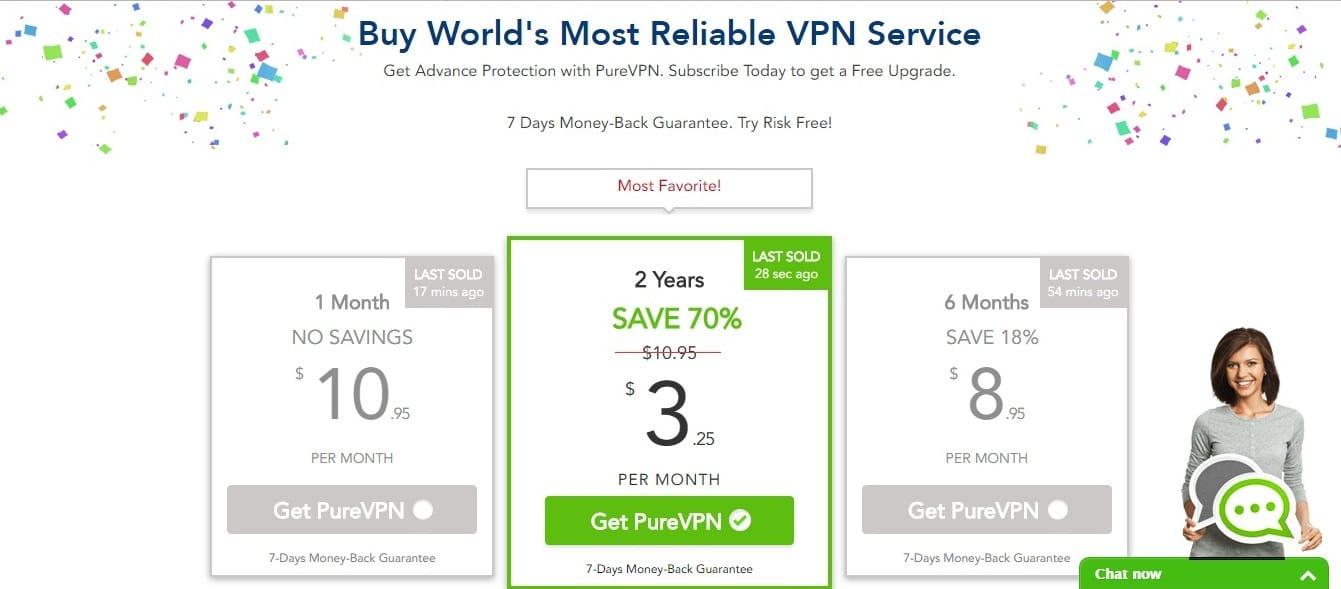 purevpn pricing plan