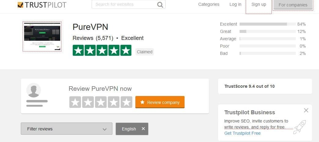 Purevpn trustpilot reviews