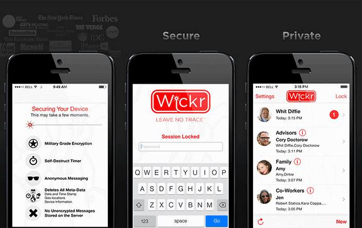 Wickr phone